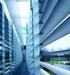 Aerofoil aluminum exterior louver