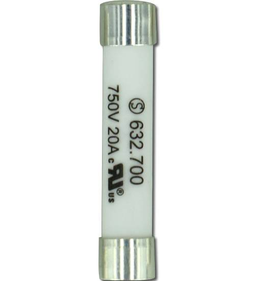 High voltage ceramic fuses for power battery 750V AC/DC 20A, UL approval