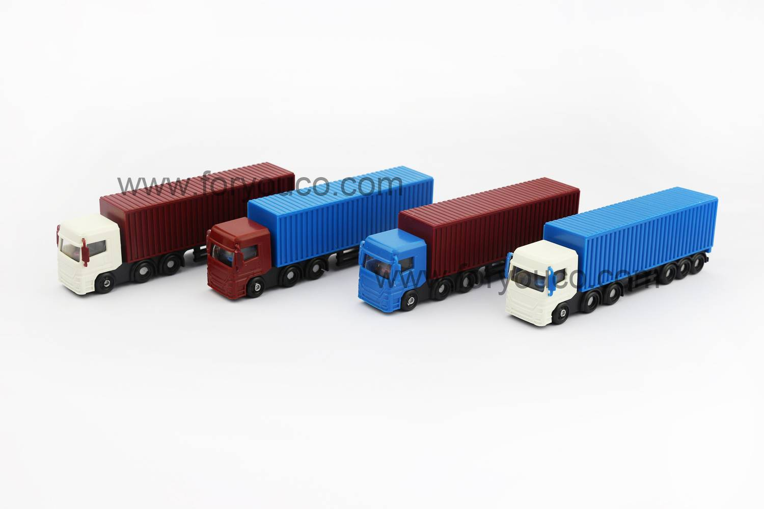 Mini Truck Container Truck Not a Toy Scale Plastic Models