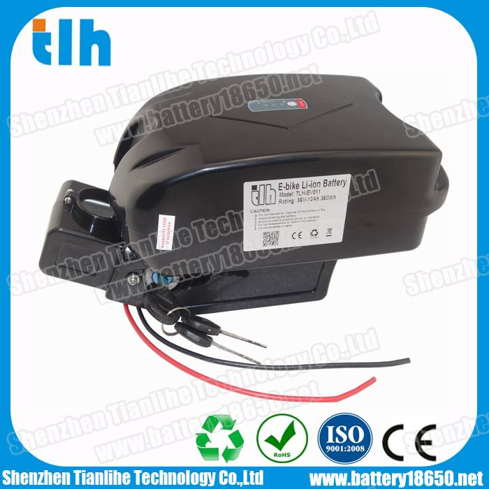 36V 13Ah frog type e-bike battery with Samsung cells
