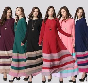Stylish in stock muslim women abaya kaftan dresses