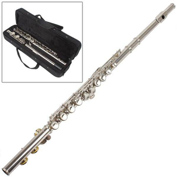 Wholesale flute 16 closed keys C foot silver plated