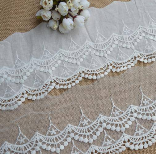 bleached embroidery lace Dong jia yi