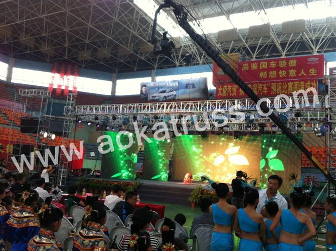 heavy duty concert aluminum stage truss system