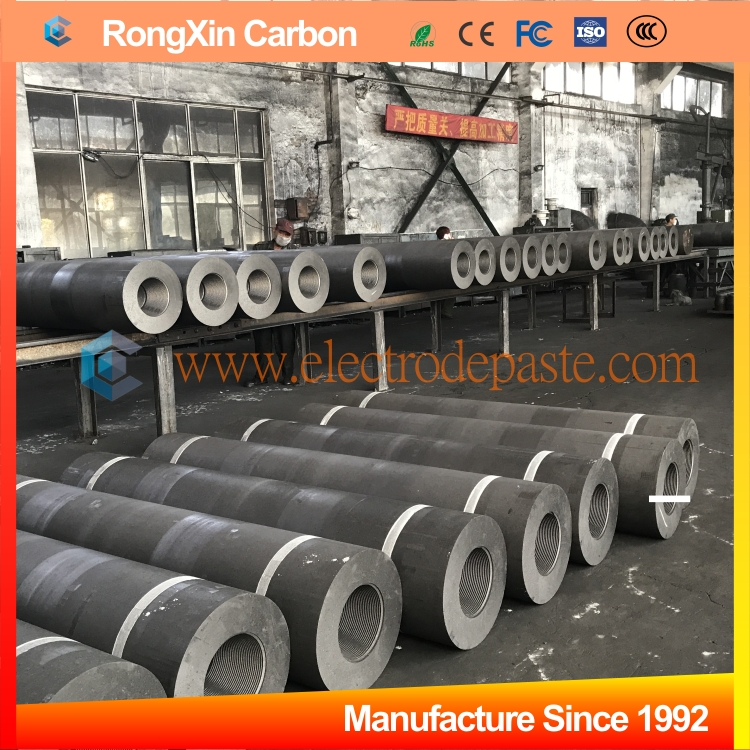 RP HP UHP High Carbon Graphite Electrode Rod with Nipple