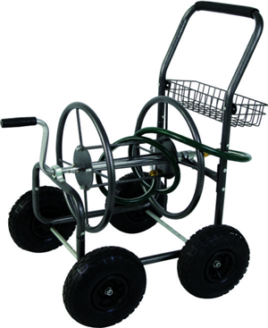 4-Wheel Garden Hose Reel Cart Trolley TC4719B