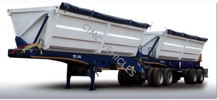 Double Parts Side Dump Semi-Trailer For Mozambique Market