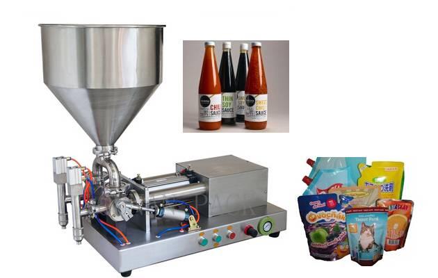 Semiautomatic Stainless Steel Horizontal Liquid/Paste Filling Machine