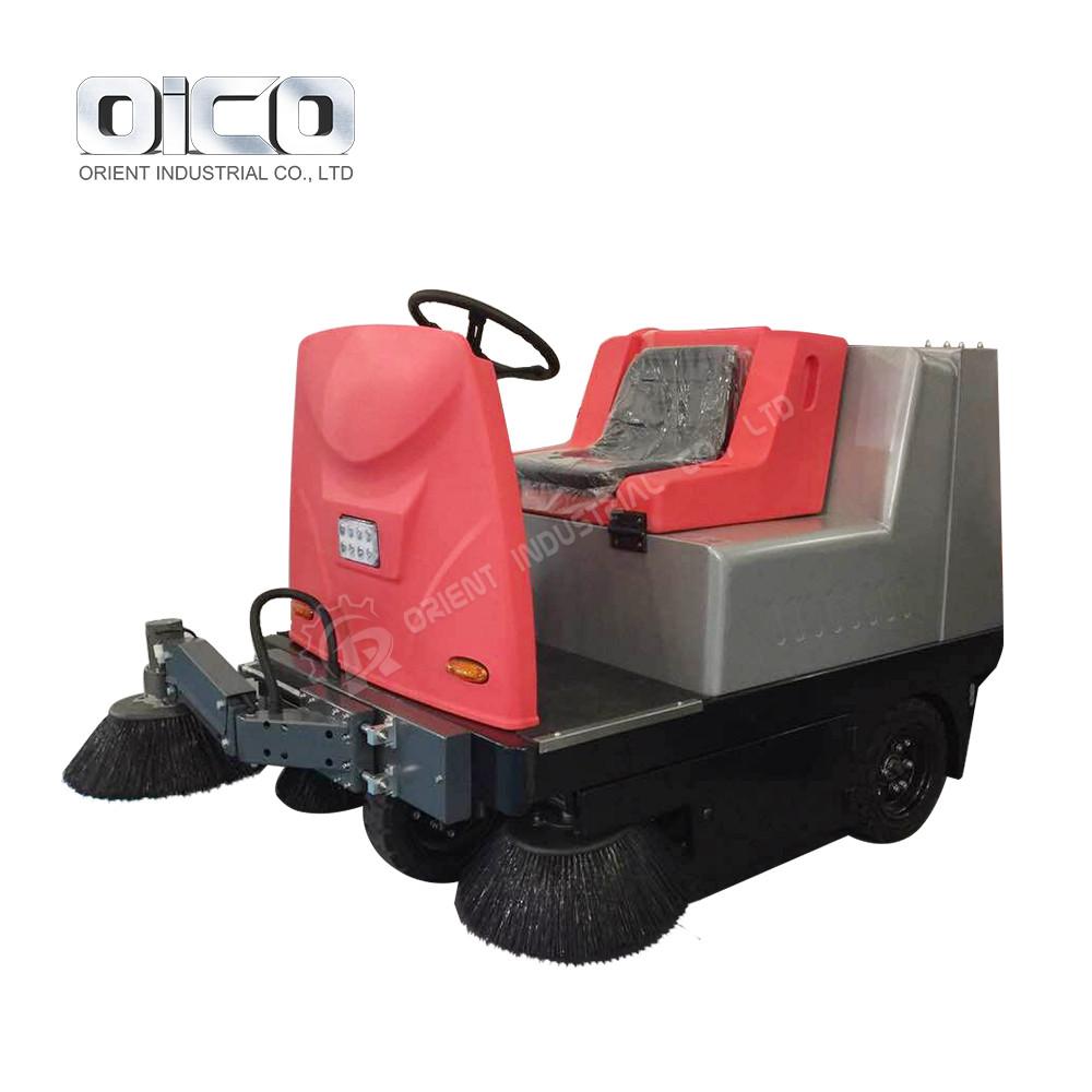 New Electric Fuel C350 Vacuum Road Sweeper Ride On Compact Street Floor Sweeping Machine