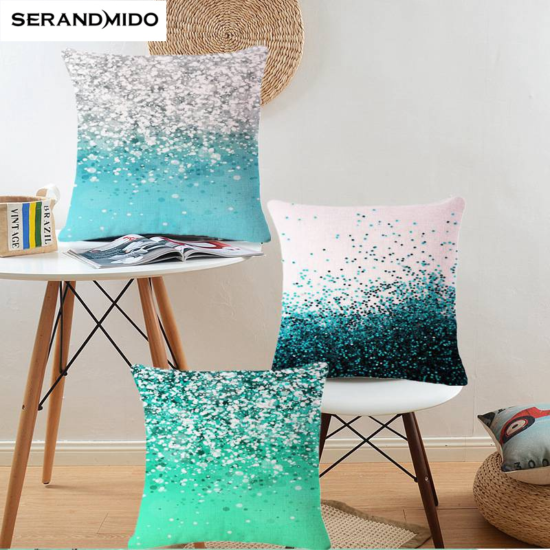 Luxury 3D Diamond Cushion Cover Cotton Linen Cushion Car Sofa Home Decorative Throw Pillows Case