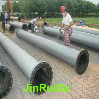 Wear Resistant Rubber Lined Steel Pipe Reducer