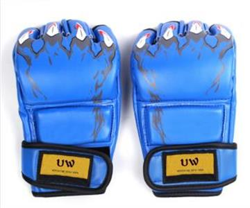 UWIN blue personalized MMA Sparring boxing gloves