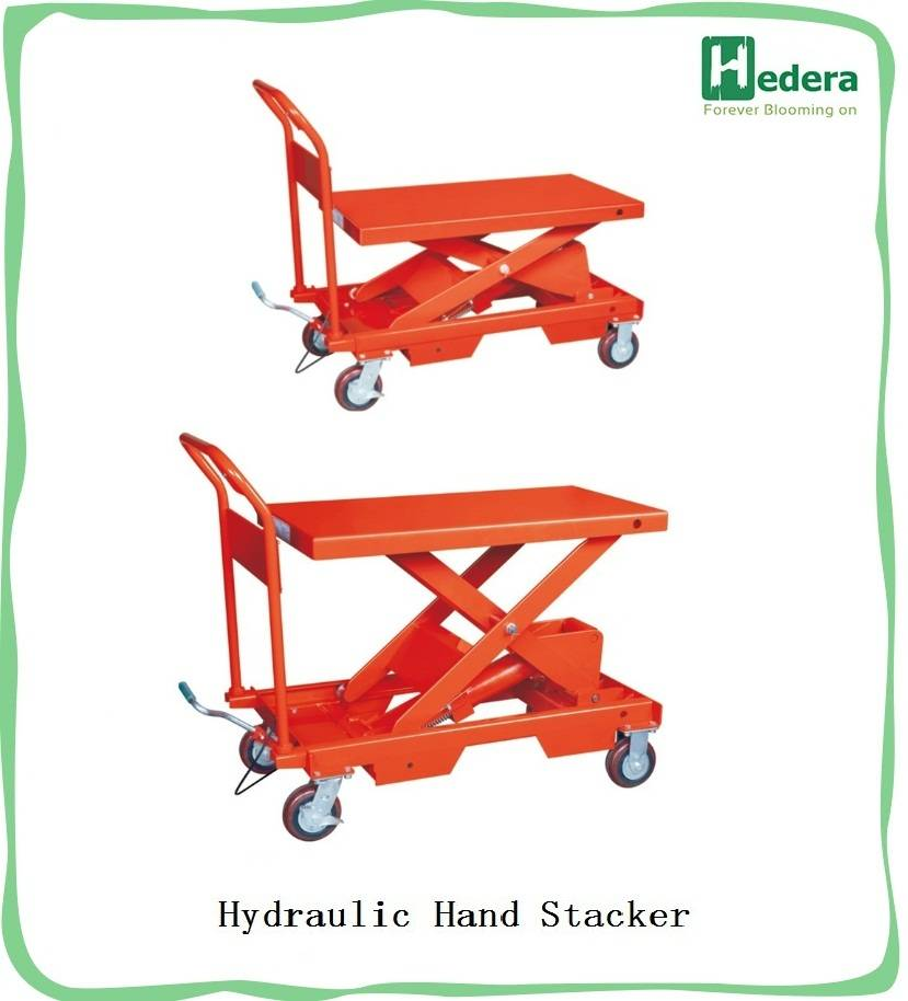150kg hand scissor lift table