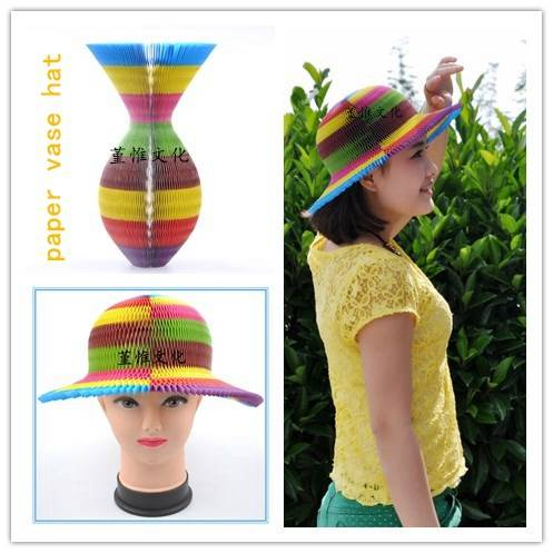 Colorful Plaid Paper Hat for Party, Christmas, Halloween, Promotion, Birthday