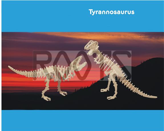Tyrannosaurus-3D wooden puzzles, wooden construction kit,3d wooden models, 3d puzzle