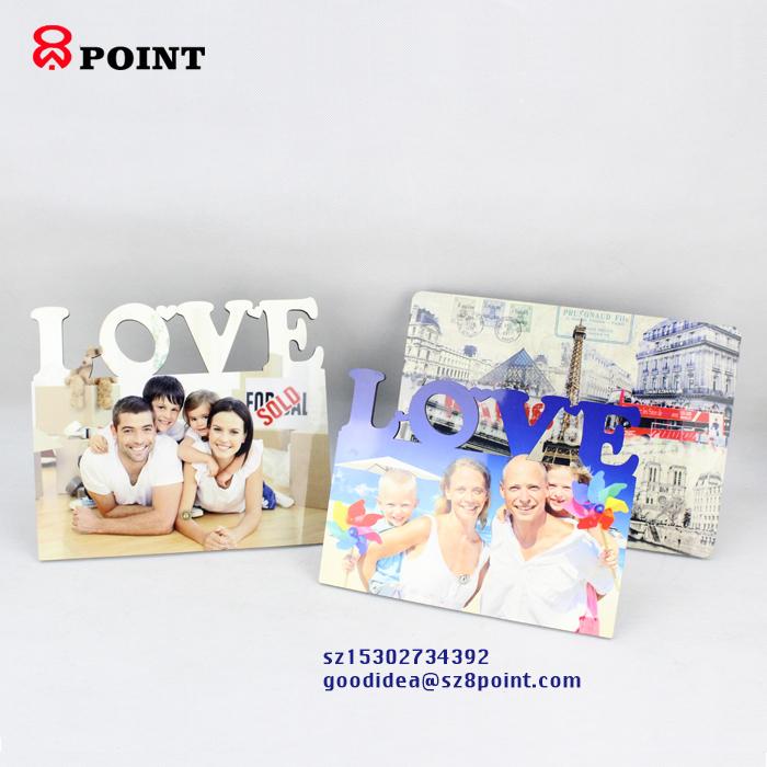 5mm Desktop Decor wooden photo frame Heat transfer Picture block