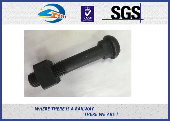 ZhongYue SGS BV Railway Fastener Hex Head Anchor Bolt HDG Custom Diameter 18mm And 22mm