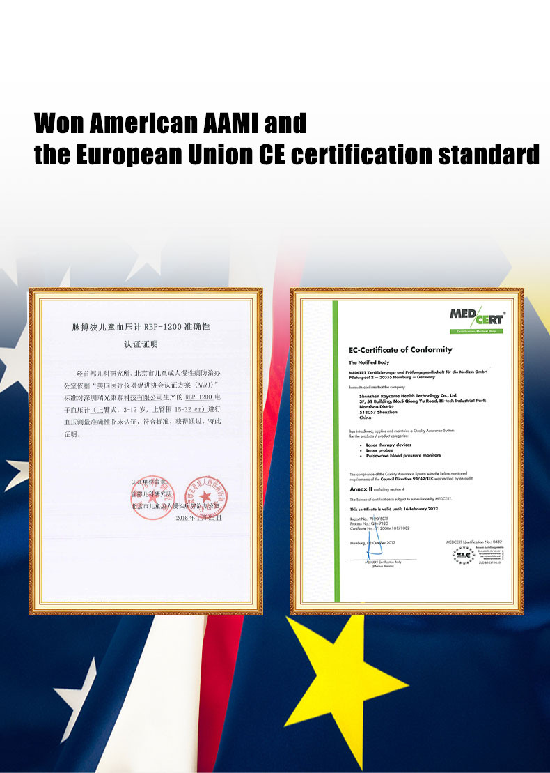 CE ISO approved pulsewave blood pressure monitor for family