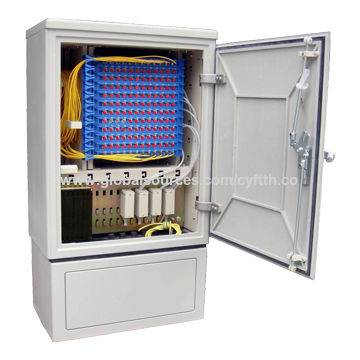 144 Core Fiber Optic Cross Connect Cabinet