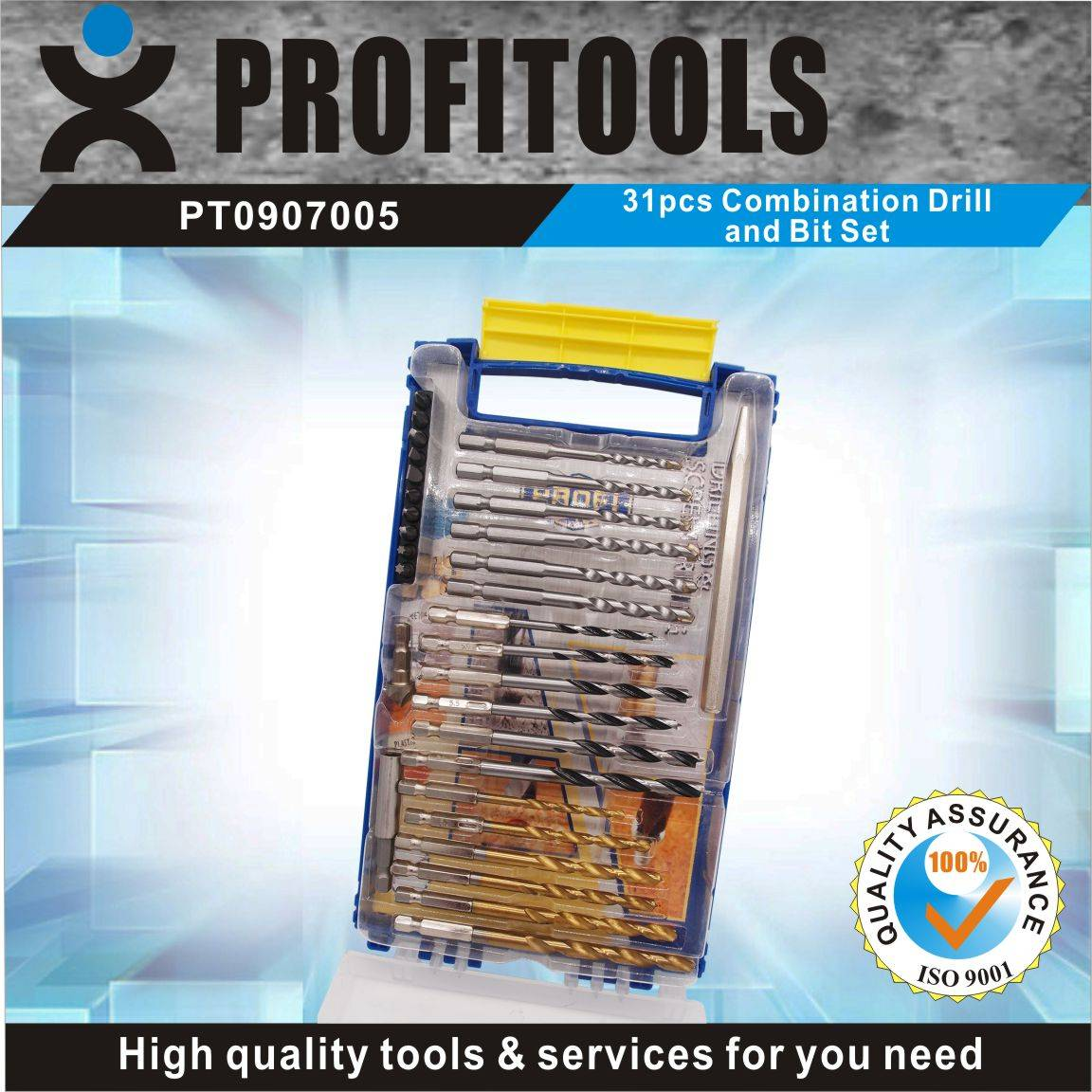 31pcs Quick Change Combination Drill and Bit Set
