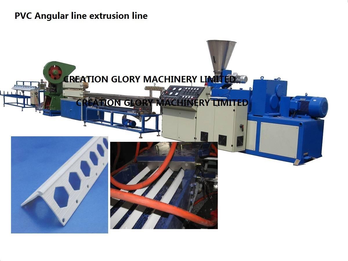 High quality PVC angular line profile plastic extrusion machine