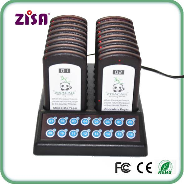 Guest Pager Wireless Queuing Ordering System Paging Equipment For Restaurant