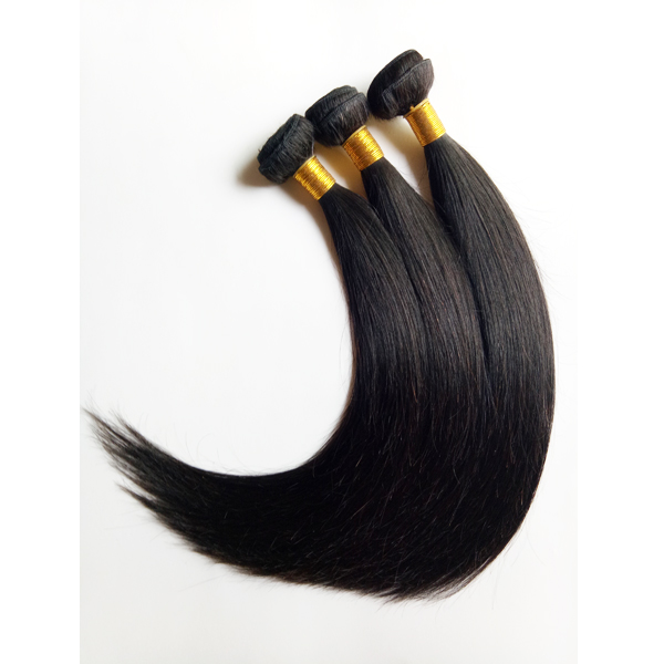 Brazilian hair weft Natural black Straight Unprocessed 100g 16inch
