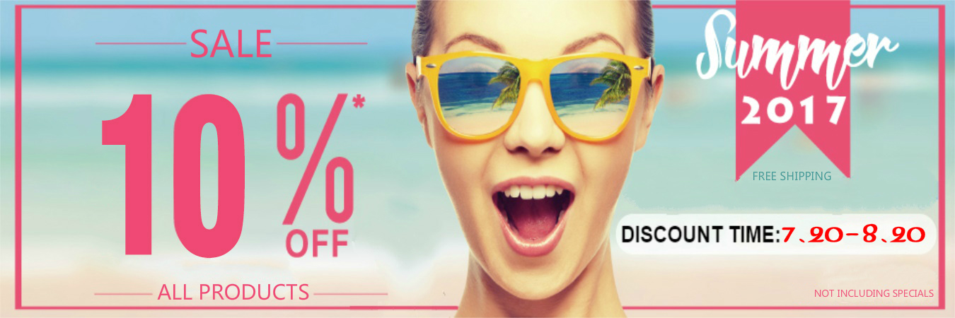 Good news: Summer passion promotions, all site shopping discounts 10%