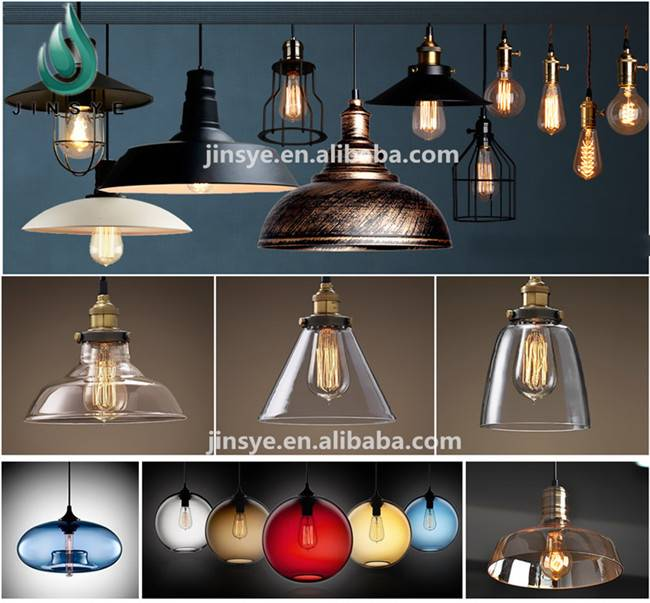 jinsanye China supply cage lamps metal glass pendant lighting
