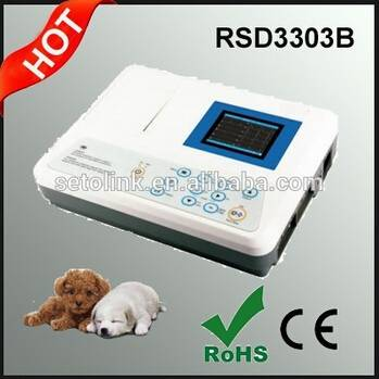 Digital 3 Channels ECG Machine Electrocardiograph for Dogs/Cats/Horses