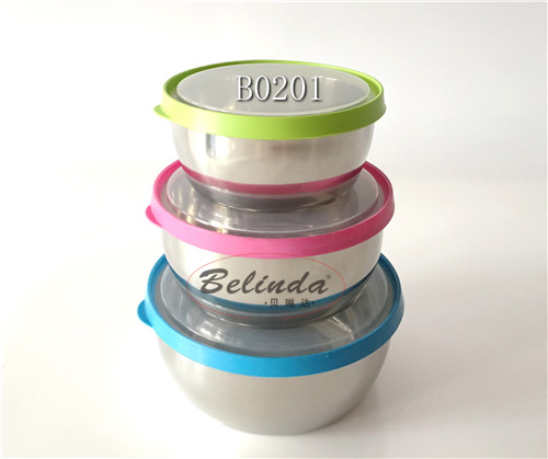 3pcs stainless steel food storage box tiffin box