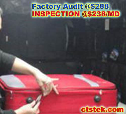 bag/backpack/luggage/pouch/baggage pre shipment final factory QC check inspection service