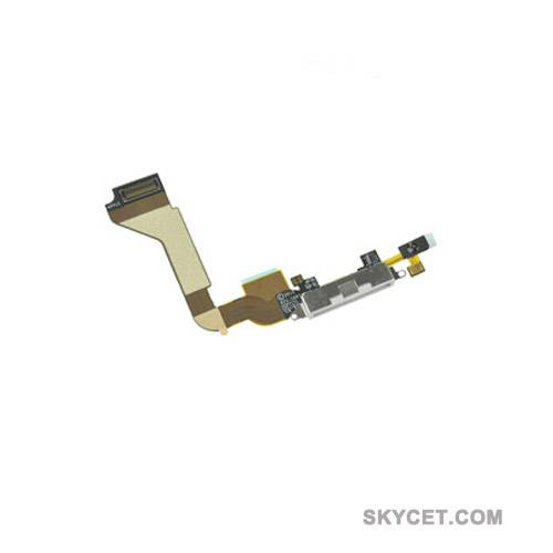 Dock Connector Flex Cable Replacement Parts For iPhone 4-White-Original New