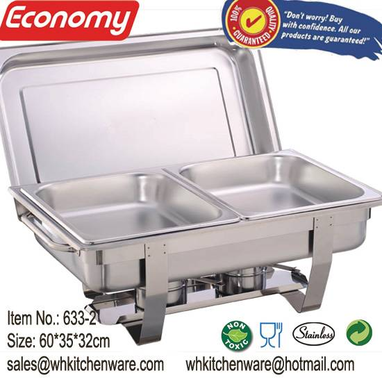 Large loading short delivery  economic style stackable stainless steel buffet food warmer