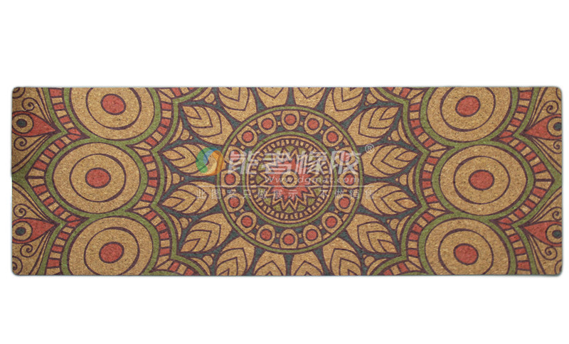 Fashion custom anti slip cork yoga mat printed Eco cork yoga mat
