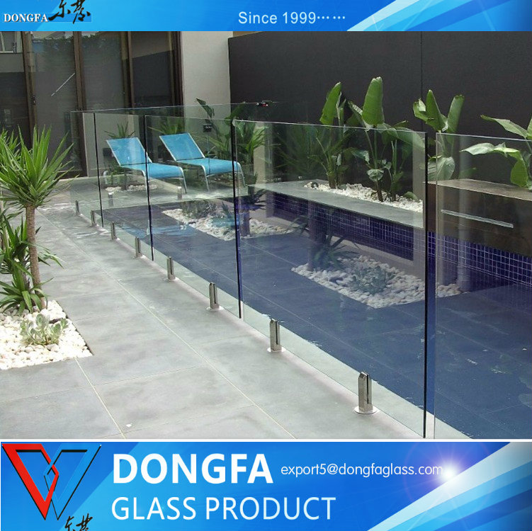 tempered laminated glass for swimming pool glass fencing system