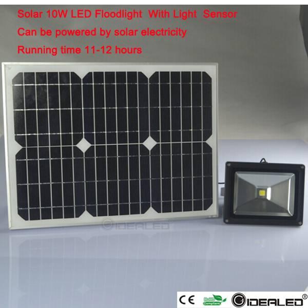 10w solar flood light with light sensor