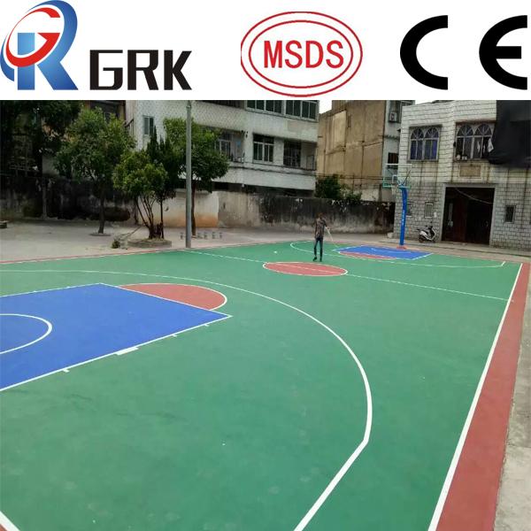 Basketball court floor SPU silicone polyurethane rubber flooring