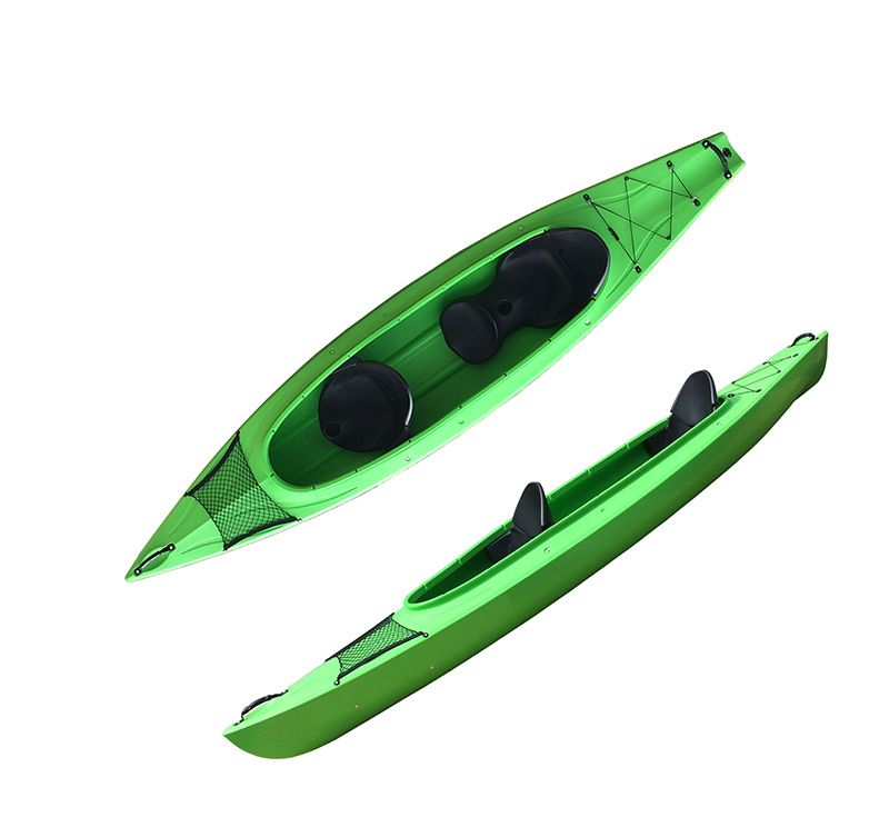 2 person recreational family kayak two adults and one kid use