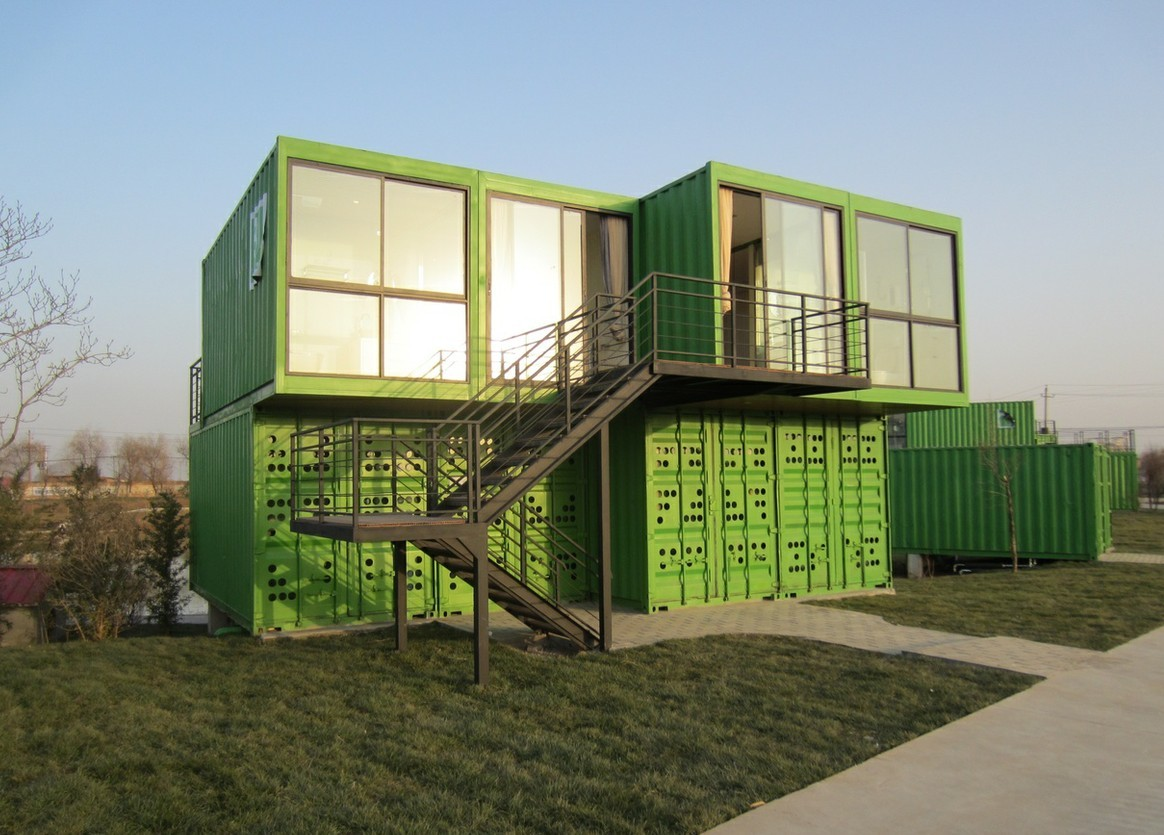 Container House for Temporary Building and Living Room