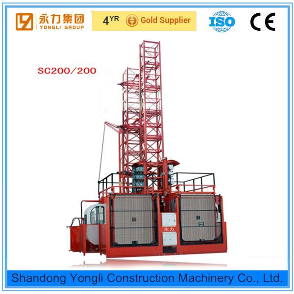 High quality SC200/200 construction elevator price