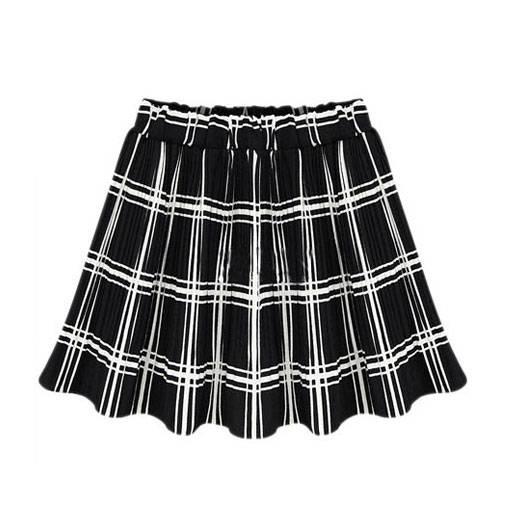 Slim Fit Ladies Check Design Fashion Skirts