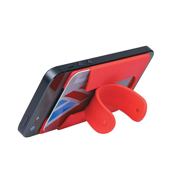 Creative mobile phone holder cell phone stand with card holder