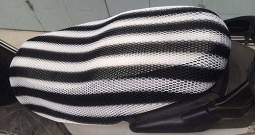 Stripe Design Motorcycle Seat Cover