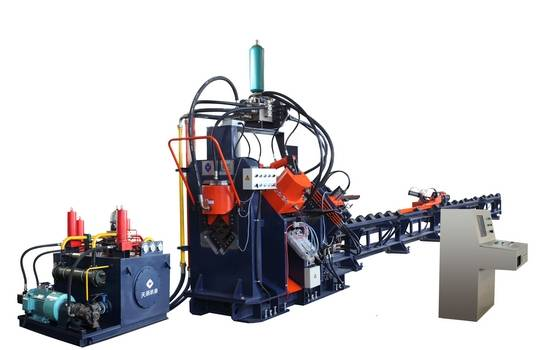 CNC power transmission tower  Angle Punching, Marking and Single-blade Shearing Line  Model APM1412