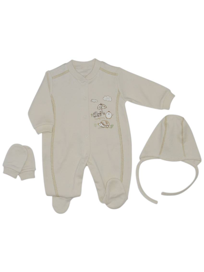 Organic Cotton Baby Romper Set (3 pcs)