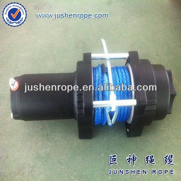 blue winch rope
