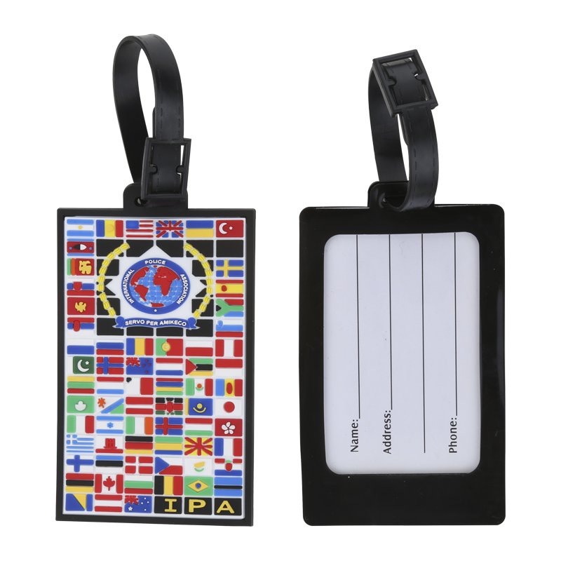 different nation flags printing luggage tag