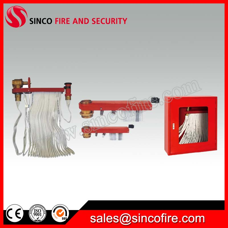 Fire hose reel with cabinet for fire fighting system