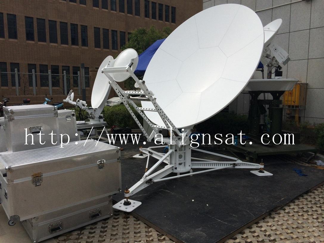 Alignsat 2.4m Carbon Fiber Flyaway Antenna